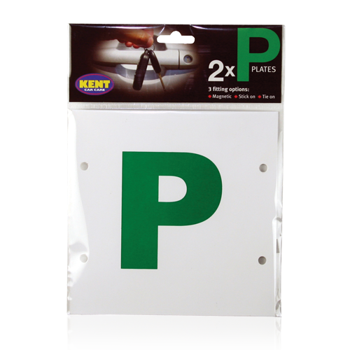 P PLATES- MAGNETIC, STICK ON & TIE ON