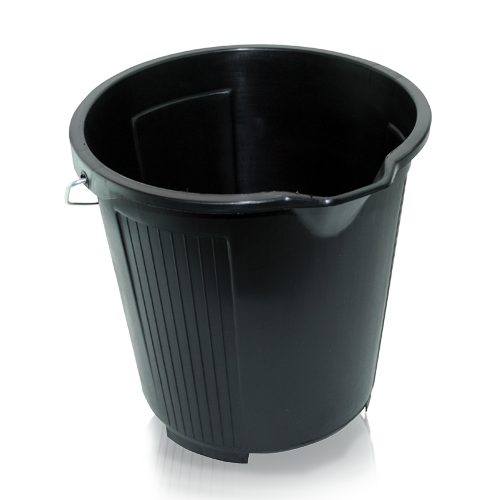 10 LITRE BLACK PLASTIC BUCKET