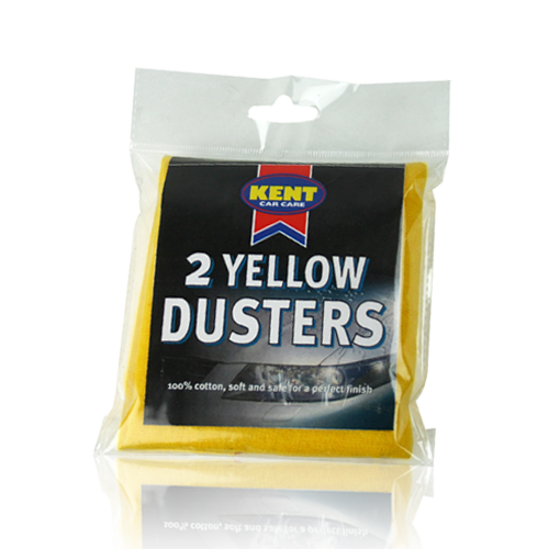 2 YELLOW DUSTERS