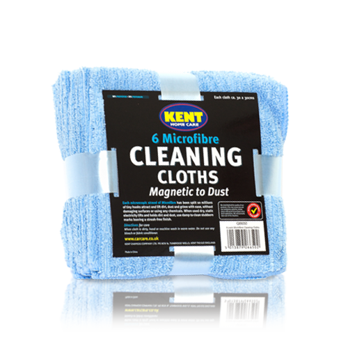 MICROFIBRE CLEANING CLOTHS IN TIE PACK