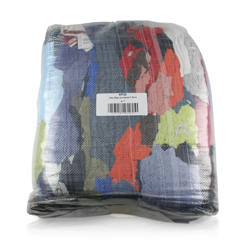 10KG BALE OF LAUNDERED COLOURED POLISHING CLOTH